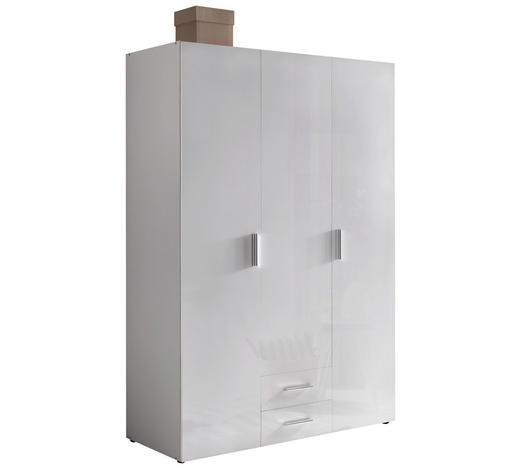 ŠATNÍ SKŘÍŇ, bílá,  - bílá/barvy chromu, Design, kompozitní dřevo/umělá hmota (120/185/54cm) - Xora