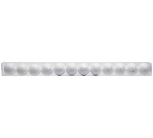 OZDOBA DEKORAČNÍ - bílá, Konvenční, umělá hmota (6cm)