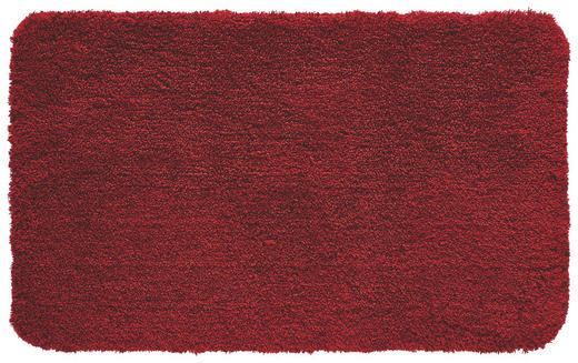 BADTEPPICH  Dunkelrot  60/100 cm - Dunkelrot, Basics, Kunststoff/Textil (60/100cm) - KLEINE WOLKE