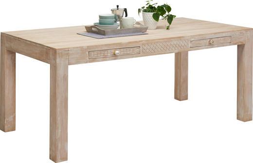 ESSTISCH in Holz 178 90 76 cm - Naturfarben/Weiß, Trend, Holz (178 90 76cm) - Ambia Home