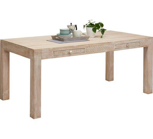ESSTISCH Mangoholz massiv rechteckig Naturfarben, Weiß  - Naturfarben/Weiß, Trend, Holz (178/90/76cm)