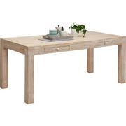JÍDELNÍ STŮL, masivní, mangové dřevo, bílá, přírodní barvy - bílá/přírodní barvy, Trend, dřevo (178/90/76cm) - Ambia Home