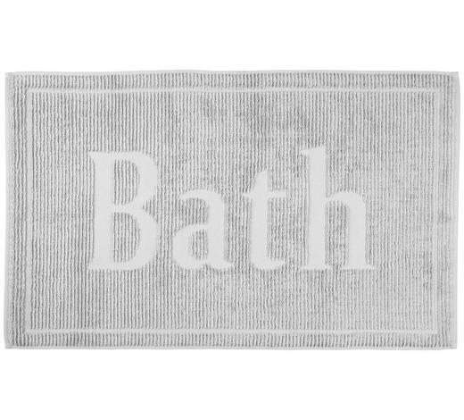BADEMATTE in Silberfarben 50/80 cm - Silberfarben, Design, Textil (50/80cm) - Bio:Vio