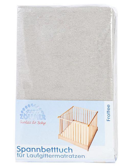 KINDERSPANNBETTTUCH - Taupe, Basics, Textil (19/27/4cm) - Zöllner