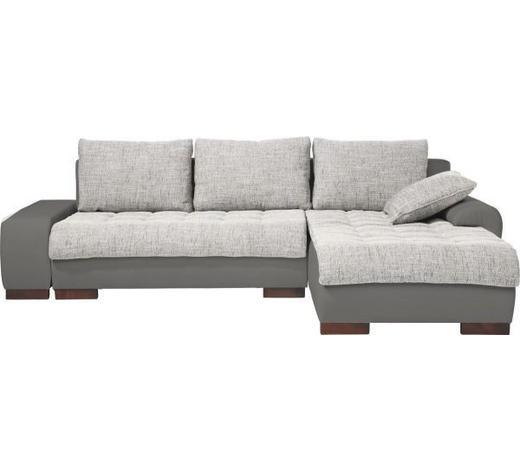 WOHNLANDSCHAFT in Textil Grau, Hellgrau - Wengefarben/Hellgrau, Design, Holz/Textil (278/198cm) - Carryhome