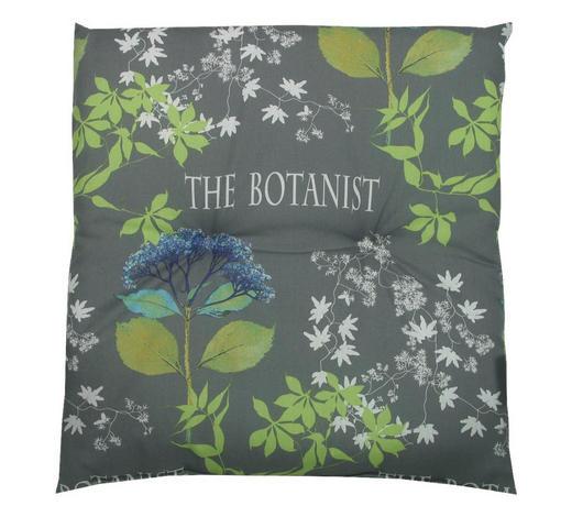 GARTENHOCKERAUFLAGE Floral  - Blau/Grau, Design, Textil (50/50/5cm)