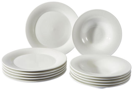 Porzellan  TAFELSERVICE  12-teilig - Weiß, Basics, Keramik - Ritzenhoff Breker