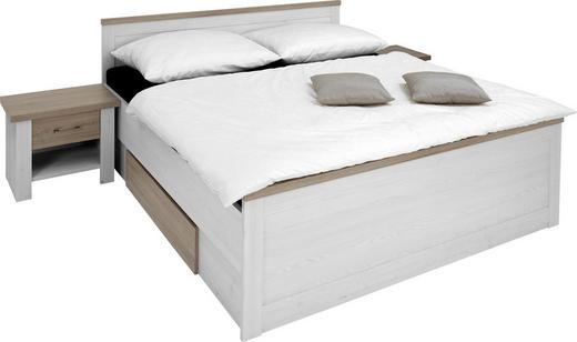 BETTANLAGE 180/200 cm - Trüffeleichefarben/Weiß, Design (180/200cm) - CARRYHOME