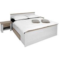 POSTELOVÁ SESTAVA - bílá/barva lanýžového dubu, Lifestyle, dřevěný materiál (180/200cm) - CARRYHOME