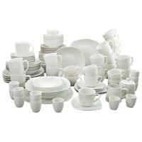 KOMBISERVICE SQUARE, 100TLG. 100-teilig - Weiß, KONVENTIONELL, Keramik - Creatable