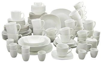 KOMBISERVICE 100-teilig - Weiß, KONVENTIONELL, Keramik - CREATABLE
