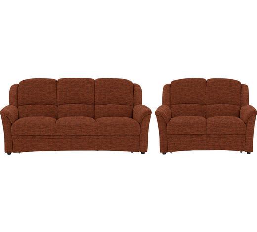 SITZGARNITUR in Textil Orange - Schwarz/Orange, KONVENTIONELL, Kunststoff/Textil (204/98/89cm) - Beldomo Comfort