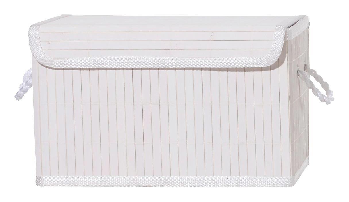 REGALKORB - Weiß/Naturfarben, KONVENTIONELL, Holz/Textil (29/18/18cm) - LANDSCAPE