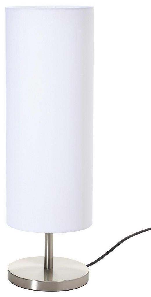 TISCHLEUCHTE - Weiß/Nickelfarben, KONVENTIONELL (16/51cm)
