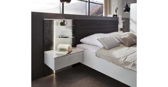 BETTANLAGE in Grau, Weiß  - Weiß/Grau, Design, Holzwerkstoff/Textil (180/200cm) - Dieter Knoll