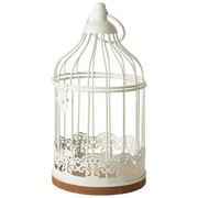 VOGELKÄFIG - Weiß, Trend, Holzwerkstoff/Metall (11/21cm) - Ambia Home