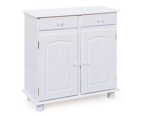 KOMMODE Kiefer massiv Weiß - Weiß, LIFESTYLE, Holz (88/87/43cm) - Carryhome