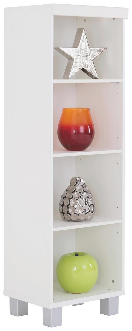 REGAL in Weiß - Silberfarben/Weiß, KONVENTIONELL, Holzwerkstoff/Kunststoff (48/145/40cm) - Paidi