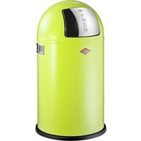 ABFALLSAMMLER PUSHBOY JUNIOR 22 L  - Edelstahlfarben/Limette, Basics, Kunststoff/Metall (35/63cm) - Wesco