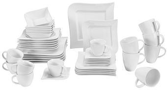 Porzellan  KOMBISERVICE 42-teilig - Weiß, Basics, Keramik - Ritzenhoff Breker