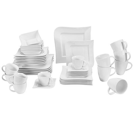 SERVIS KOMBINOVANÝ, 42-dílné, porcelán - bílá, Basics, keramika - Ritzenhoff Breker
