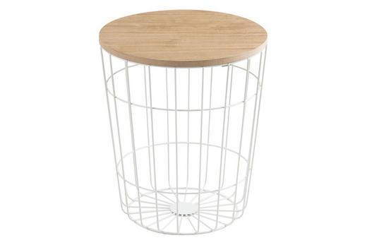 KLUB STOLIĆ - bijela/prirodne boje, Design, drvni materijal/metal (34/39cm) - Ti`me
