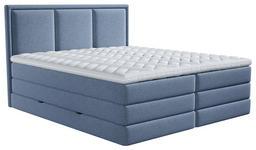 BOXSPRINGBETT 180/200 cm  in Blau  - Blau, Design, Kunststoff/Textil (180/200cm) - Xora