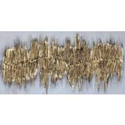 Strukturen ÖLGEMÄLDE - Goldfarben, Design, Holz/Textil (60/120cm) - Monee