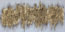OLJNA SLIKA - zlata, Design, tekstil/les (60/120cm) - Monee