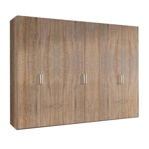 DREHTÜRENSCHRANK 6-türig Sonoma Eiche - Graphitfarben/Alufarben, KONVENTIONELL, Holzwerkstoff/Kunststoff (300/216/58cm) - Hom`in