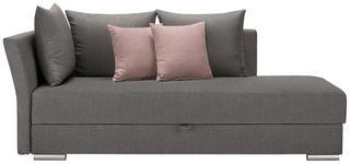 LIEGE in Textil Grau, Rosa - Chromfarben/Rosa, Design, Kunststoff/Textil (220/93/100cm) - Xora