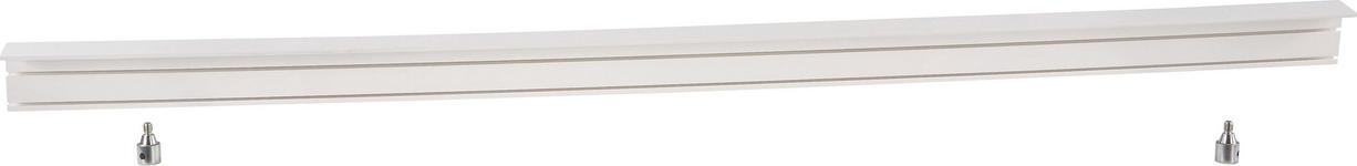 Vorhangschiene 150 cm - Weiß, KONVENTIONELL, Kunststoff (150/5/7.5cm) - Ombra