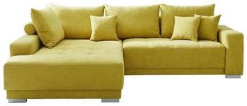 WOHNLANDSCHAFT in Textil Gelb - Gelb/Silberfarben, Design, Holz/Textil (195/294cm) - Cantus