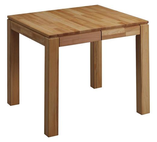 ESSTISCH in Holz 80(130)/80/75 cm - Buchefarben, KONVENTIONELL, Holz (80(130)/80/75cm) - Linea Natura
