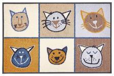 FUßMATTE 50/75 cm Katze Beige, Braun, Multicolor - Beige/Multicolor, Basics, Kunststoff/Textil (50/75cm) - Esposa