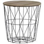 BEISTELLTISCH in Holz, Metall, Holzwerkstoff 40/40/41 cm  - Schwarz/Naturfarben, Design, Holz/Holzwerkstoff (40/40/41cm) - Ambia Home
