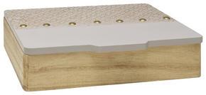 DEKORATIONSLÅDA - blå, Trend, träbaserade material (25/21/6,5cm) - Ambia Home