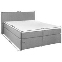 BOXSPRINGBETT 160 cm   x 200 cm   in Textil Braun - Schwarz/Braun, Design, Kunststoff/Textil (160/200cm) - Carryhome