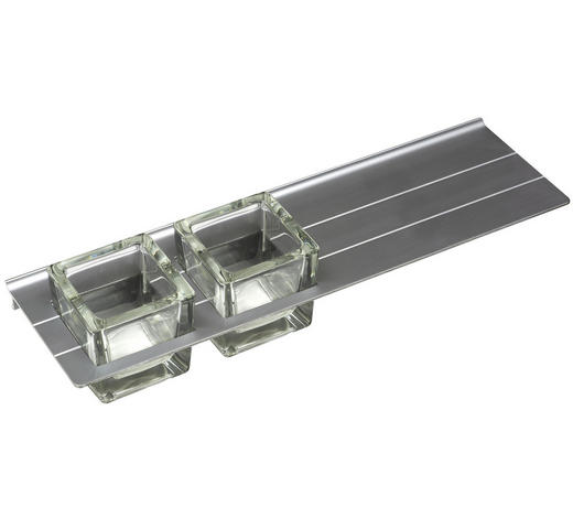 ABLAGE  - Alufarben, Basics, Glas/Metall (41,7/10cm) - Sadena