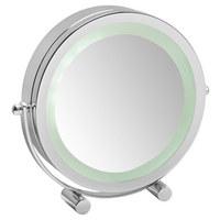 LEUCHTSPIEGEL  - Chromfarben, Basics, Glas/Metall (20/19,5/4cm) - Kleine Wolke