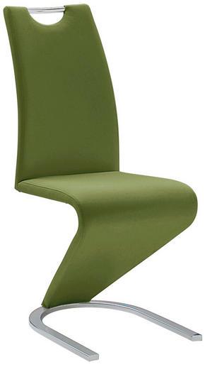 SVIKTSTOL - kromfärg/mörkgrön, Design, metall/textil (45/102/62cm)