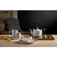 TASSENSET 2-teilig Keramik Schwarz, Weiß - Schwarz/Weiß, Design, Keramik (8/10,5cm) - ASA