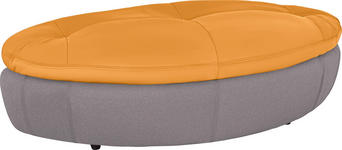 HOCKER in Textil Grau, Orange - Schwarz/Orange, Design, Kunststoff/Textil (155/47/78cm) - Hom`in