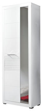 ORMAR GARDEROBNI - bijela/boje kroma, Design, drvni materijal/metal (72/201/37cm) - Xora