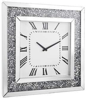 VÄGGKLOCKA - vit/silver, Design, glas/träbaserade material (50/50/5cm) - Xora