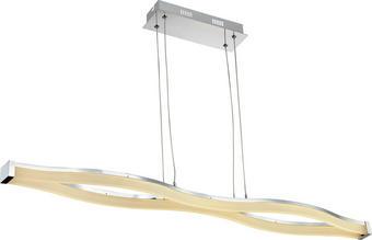 LED-HÄNGELEUCHTE - Chromfarben, Design, Kunststoff/Metall (110,5/12,5/15cm) - Ambiente