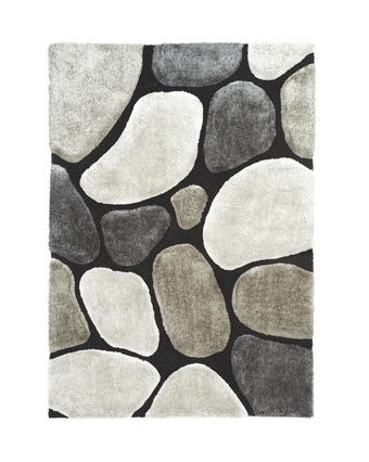 KOSMATINEC STONE - siva, Design, tekstil (130/190cm) - Novel