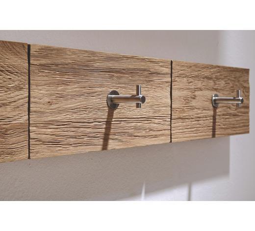 GARDEROBENLEISTE Wildeiche massiv Eichefarben  - Eichefarben, Design, Holz (96/15,6/5,2cm) - Voglauer