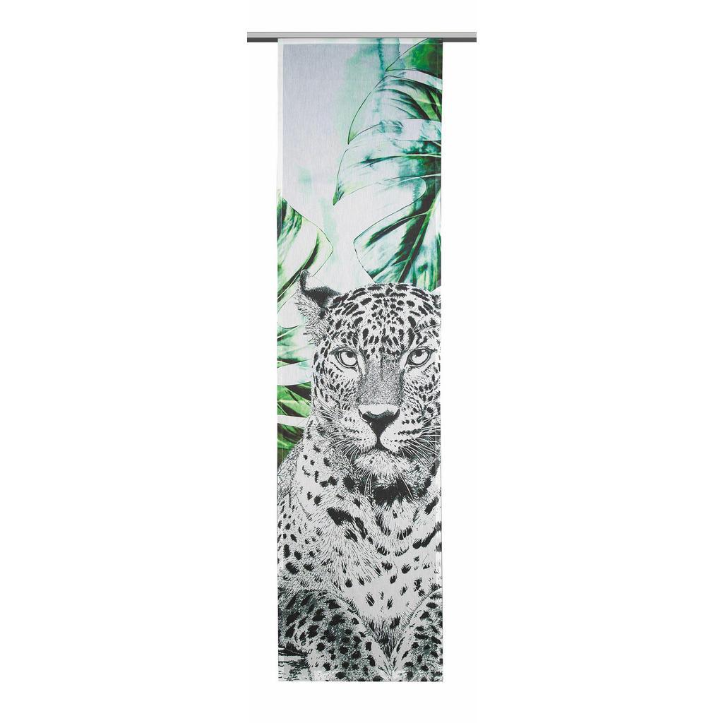Flächenvorhang mit Leopardenprint