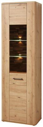 VITRINE Eichefarben - Eichefarben/Schwarz, KONVENTIONELL, Glas/Holzwerkstoff (60/198/38cm) - Cantus